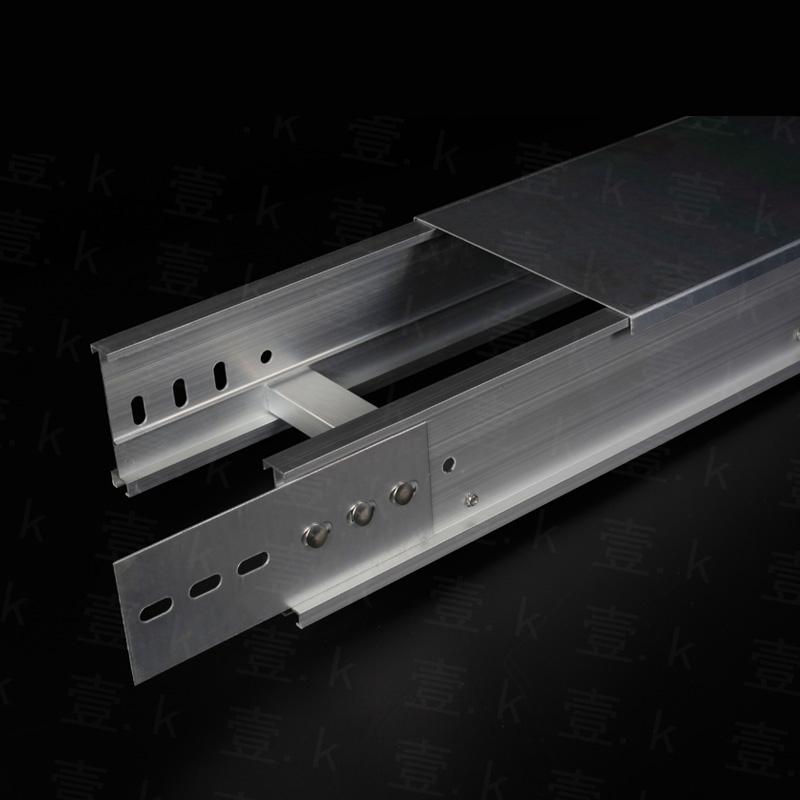 昆明现货铝合金梯式电缆桥架型材拼装布线金属线槽接受定制